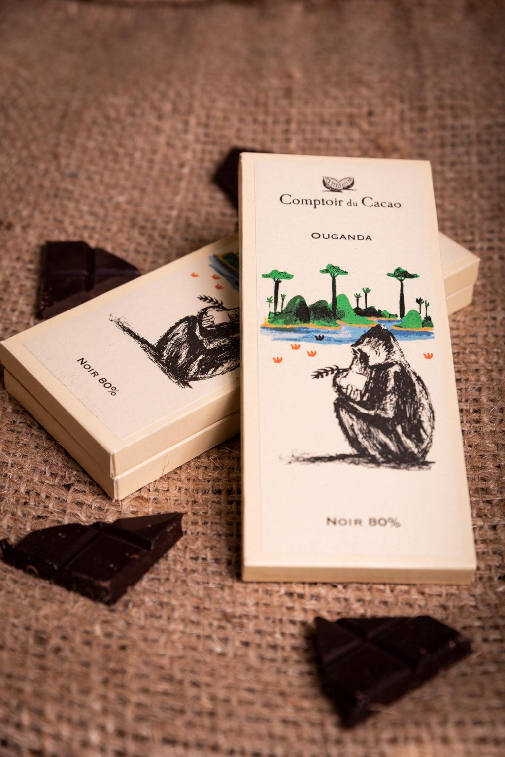 Tablette de chocolat Ouganda du comptoir du cacao