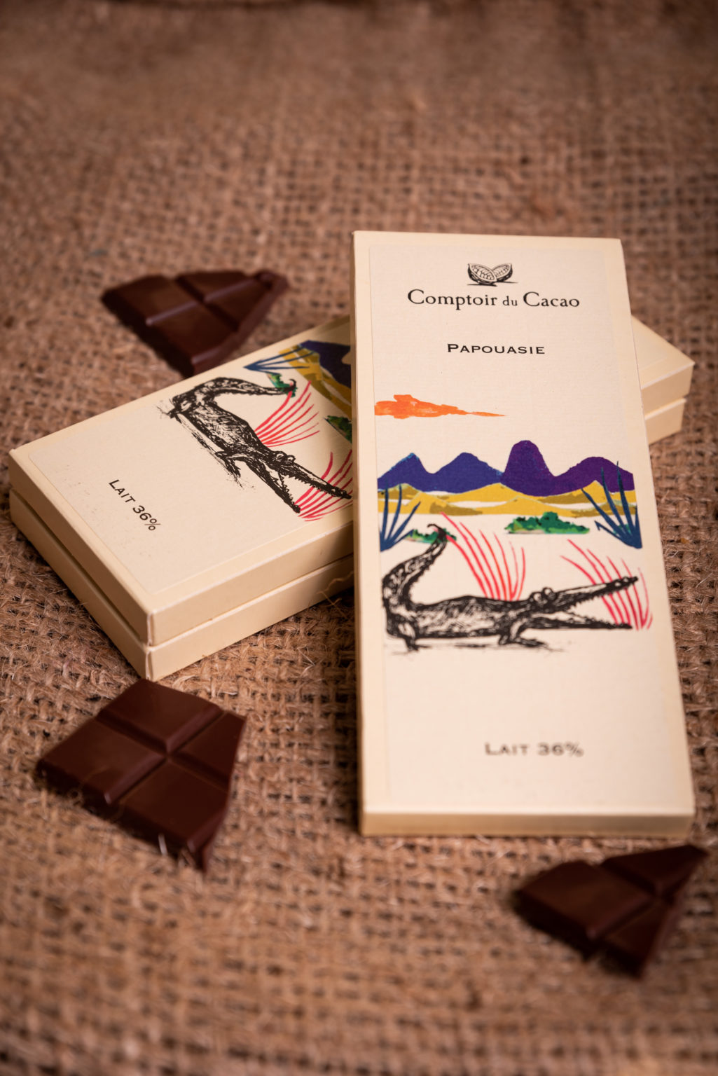 Tablette de chocolat Papouasie comptoir du cacao