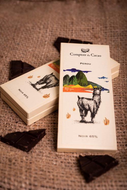 Tablette de chocolat Pérou comptoir du cacao