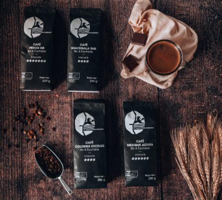 Offre de quatre cafés d' Amérique du Sud