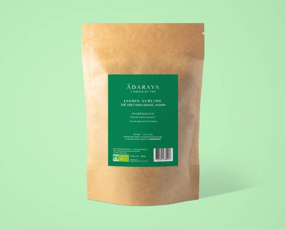 Thé vert Jasmin Sublime bio de la marque Adaraya