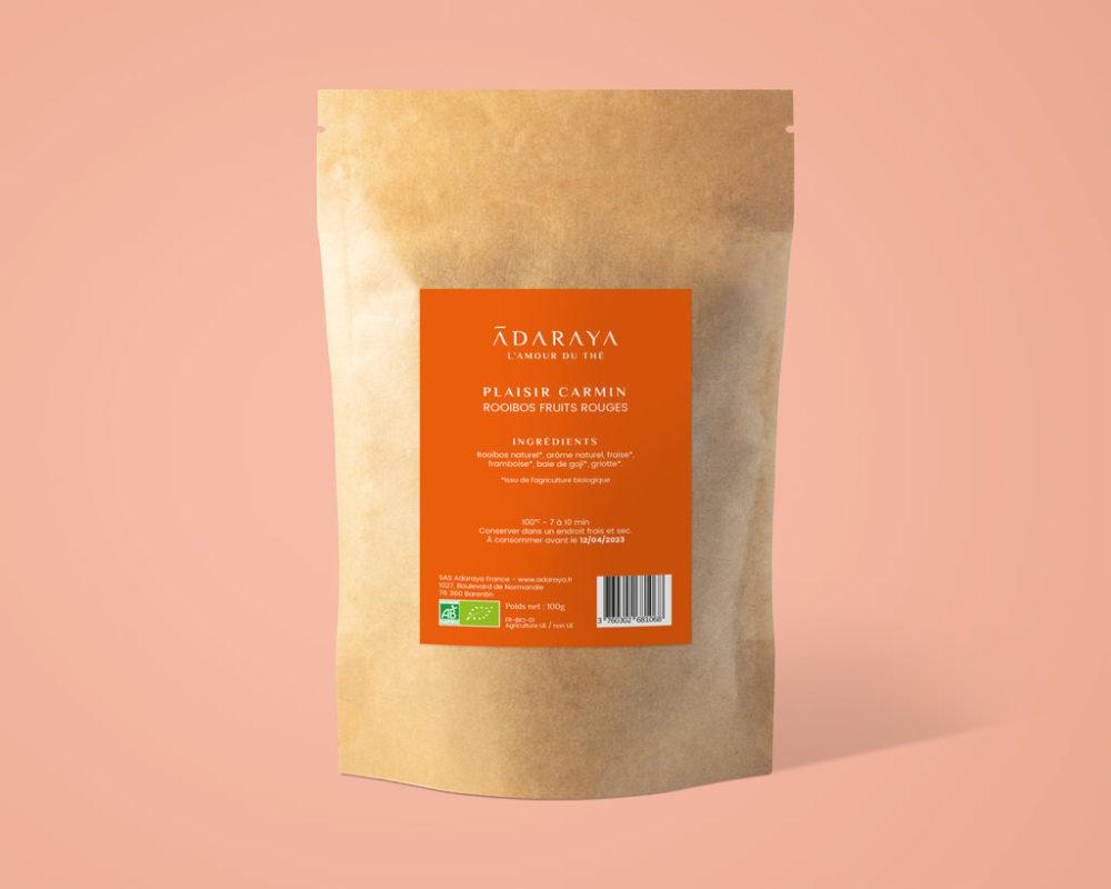 Recharge rooibos plaisir carmin bio de la marque Adaraya